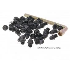 Set pini rezerva Native otel M4x4 40 bucati ascutite - negru