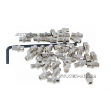 Set pini rezerva Native otel M4x4 40 bucati plate - argintiu