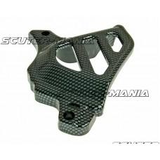 front sprocket cover carbon look pentru Minarelli AM, Generic, KSR-Moto, Keeway, Motobi, Ride, 1E40MA, 1E40MB