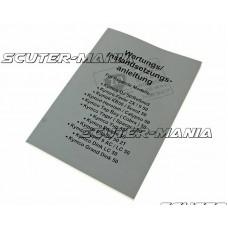 Manual intretinere / reparatii pentru scuter Kymco in 2 timpi (German) - ZZIP