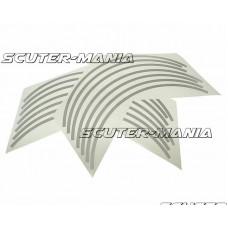Banda autoadeziva jante Opticparts DF - aspect cromat