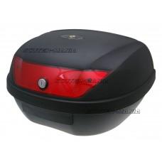 Top Case maxi trunk neagra - 2 chei, sticla rosie - 51L capacitate - 101 Octane