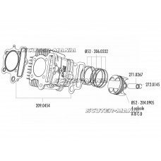 Bolt piston Polini 13x38mm pentru Honda XR 50, Polini XP4T 50, XP4T 110