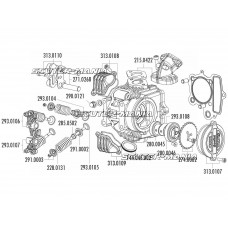 camshaft gear Polini 28T pentru 4V cylinder head pentru Honda XR 50, Polini XP4T