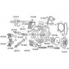 Toba esapament Polini pentru chiulasa 4V pentru Honda XR 50, Polini XP4T
