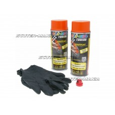 Vopsea tip colant Dupli-Color Sprayplast set portocaliu lucios 2x400ml