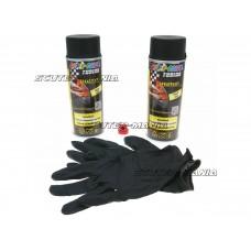 Vopsea tip colant set Dupli-Color Sprayplast negru mat 2x400ml