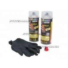 Vopsea tip colant Dupli-Color Sprayplast set transparent lucios 2x400ml