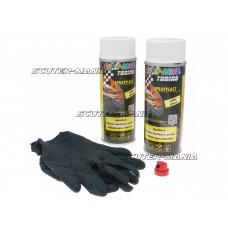 Vopsea tip colant Dupli-Color Sprayplast set alb lucios 2x400ml
