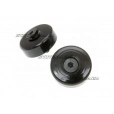 handlebar / bar end weights anti-vibration damper black pentru Vespa GTS 125-300, Primavera, Sprint