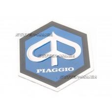Emblema autocolanta Piaggio 25x30mm aluminiu pentru Vespa PX, PE 80, 125, 200