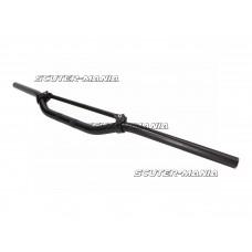 Ghidon Enduro aluminiu negru cu bara transversala neagra 22mm - 820mm