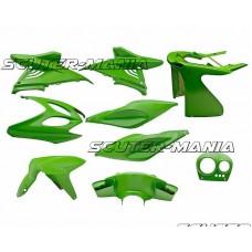 Set caroserie 9 piese (verde) pentru Aerox, Nitro