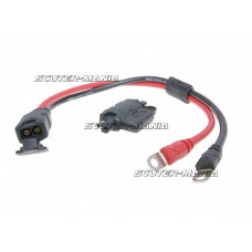 battery clamp connector cable NOCO w/ eyelet-style terminals and SAE adapter