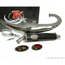 Sistem complet evacuare Turbo Kit Bajo RQ cromat pentru Derbi Senda DRD (dupa 2006)