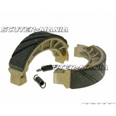 Set saboti frana canelati 110x25mm pentru frana cu tambur pentru Aprilia Amico 50 bis (1993), Honda Lead 50