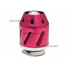 Filtru aer Grenade rosu versiunea dreapta conexiune (adaptor) carburator 35/48mm
