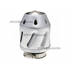 Filtru aer Grenade argintiu versiunea dreapta conexiune (adaptor) carburator  35/48mm