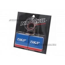 crankshaft bearing set Naraku SKF C3 metal cage pentru Minarelli AM