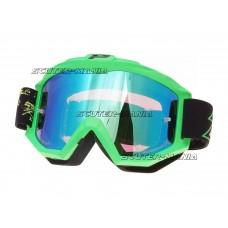MX goggle ProGrip 3204 FLUO MATT green