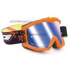 MX goggle ProGrip 3204 FLUO MATT orange/blue