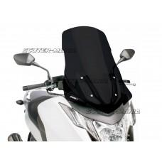 Parbriz Puig V-Tech Touring Line negru pentru Honda Integra NC700, NC750