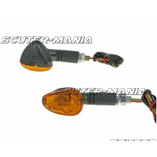 indicator light set M10 thread carbon look Doozy orange, long version