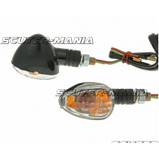 indicator light set M10 thread black Doozy transparent, short version