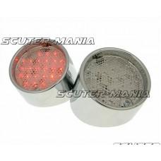 Stop spate (set 2 bucati) LED cromat pentru Aprilia SR50 - Vicma