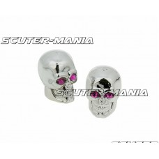 Set capace ventil Skull cromete - universale