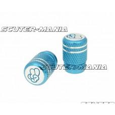 Set capace ventil Peace aluminiu eloxat - albastru - universal