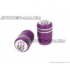 Set capace ventil Peace aluminiu eloxat - violet - universal