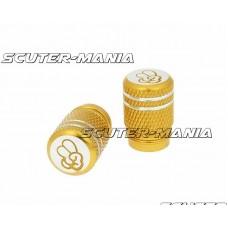 Set capace ventil Peace aluminiu eloxat - auriu - universal