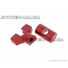 brake cable adjuster set M6 thread aluminum red - universal