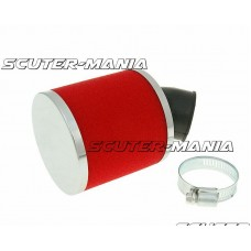 air filter Big Foam 28-35mm bent carb connection (adapter) red