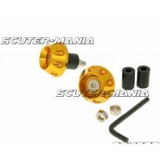 handlebar / bar ends anti-vibration flat 13.5 / 17.5mm (incl. adapter) - gold