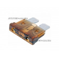 blade fuse flat 19.2mm 7.5A brown in color