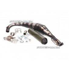 exhaust Yasuni Carrera R3 MAX yellow carbon fiber pentru Offroad, SM, Minarelli AM, Derbi D50B0, EBE, EBS