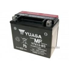 Acumulator (baterie) Yuasa YTX12-BS DRY MF (fara mentenanta)